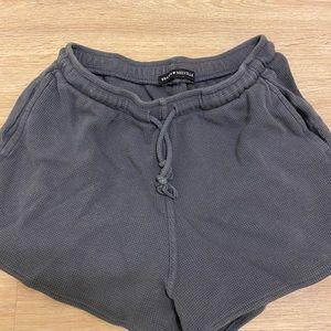 Brandy Melville Waffle Knit Gray Shorts